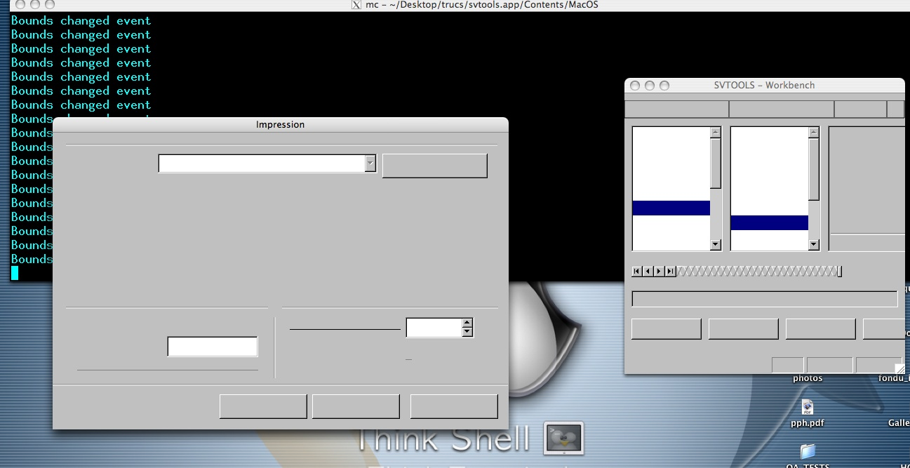 ericb's place: Mac OS X native port : some screenshots of